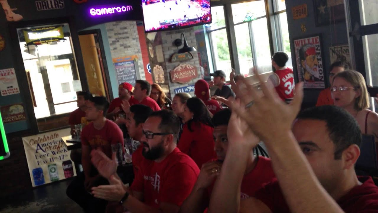 Houston rockets fans at the addison ice house for rox for The addison house