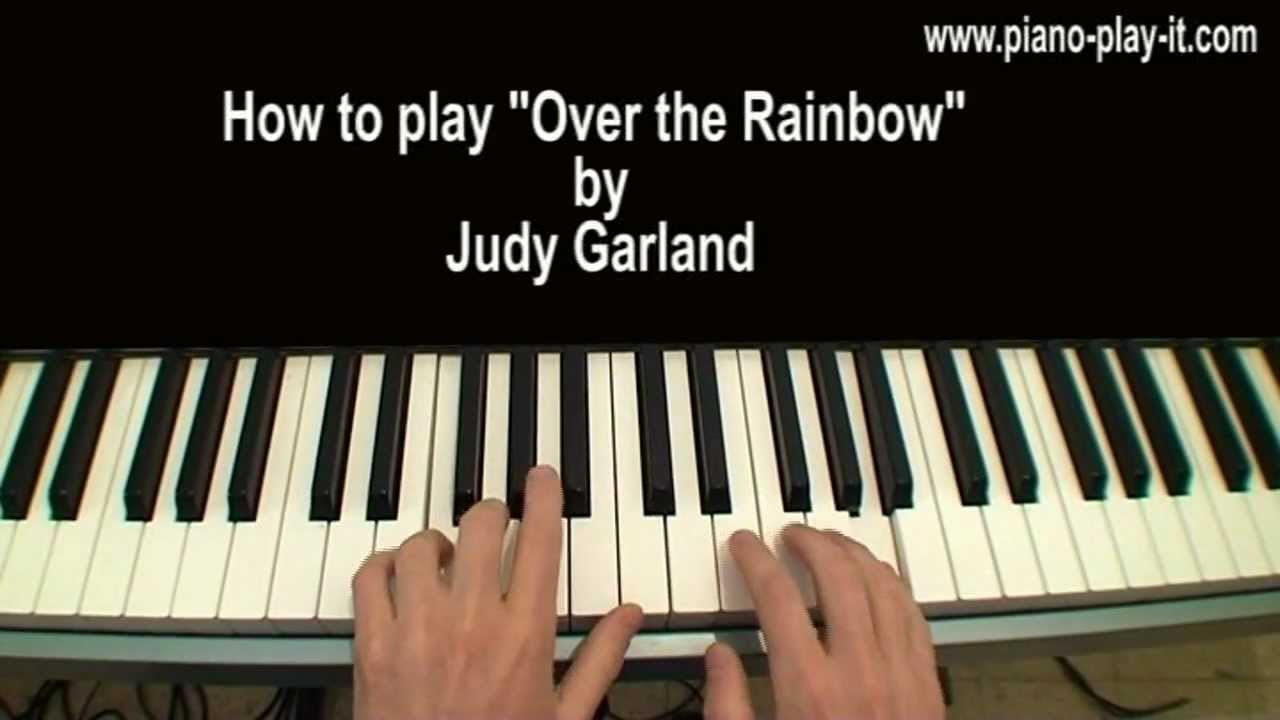Over The Rainbow Piano Tutorial Judy Garland Youtube
