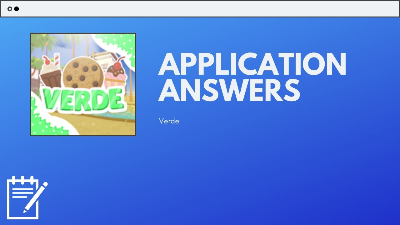 Verde Cafe Application Answers - 2020 | ROBLOX