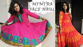 Try On Clothing Haul | Myntra.com Shopping - Indian Kurti Haul & How to style | Big Sale Haul