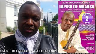 HOMMAGE A LAPIRO DE MBANGA - INVITATION DE PETIT PAYS