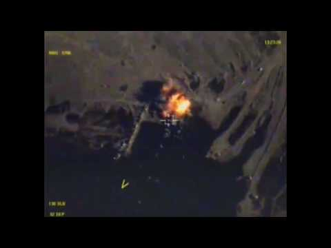 Russian airstrikes on Deir ez-Zor ISIS ferries on Euphrates River