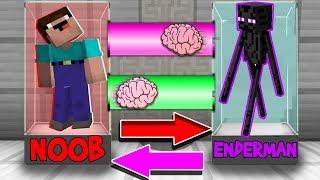 Minecraft NOOB vs PRO vs ENDERMAN : BRAIN EXCHANGE! NOOB BECAME a ENDERMAN in Minecraft! Animation!