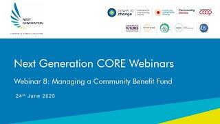 8. Managing a Community Benefit Fund. Next Generation Community Solar Webinars