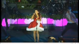 Ariana Grande Singing Put Your Hearts Up - 11th Annual Citadel Tree Lighting