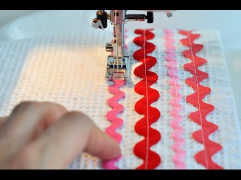 28 Rick Rack Stitch Usha Janome Style Maker Series Youtube