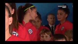 cérémonie match Chili Suède