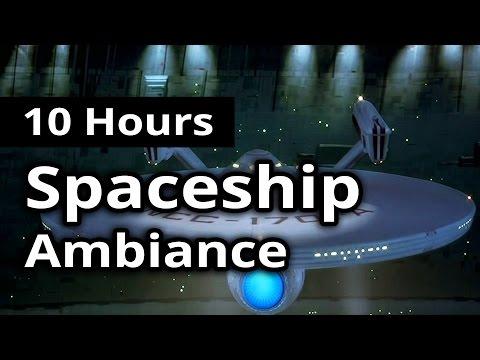 10 hours - STARSHIP Ambiance - Continuous Engine / Spaceship Bridge noises