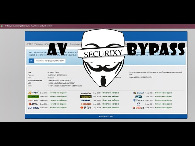 AV Bypass - способы обхода антивирусной защиты