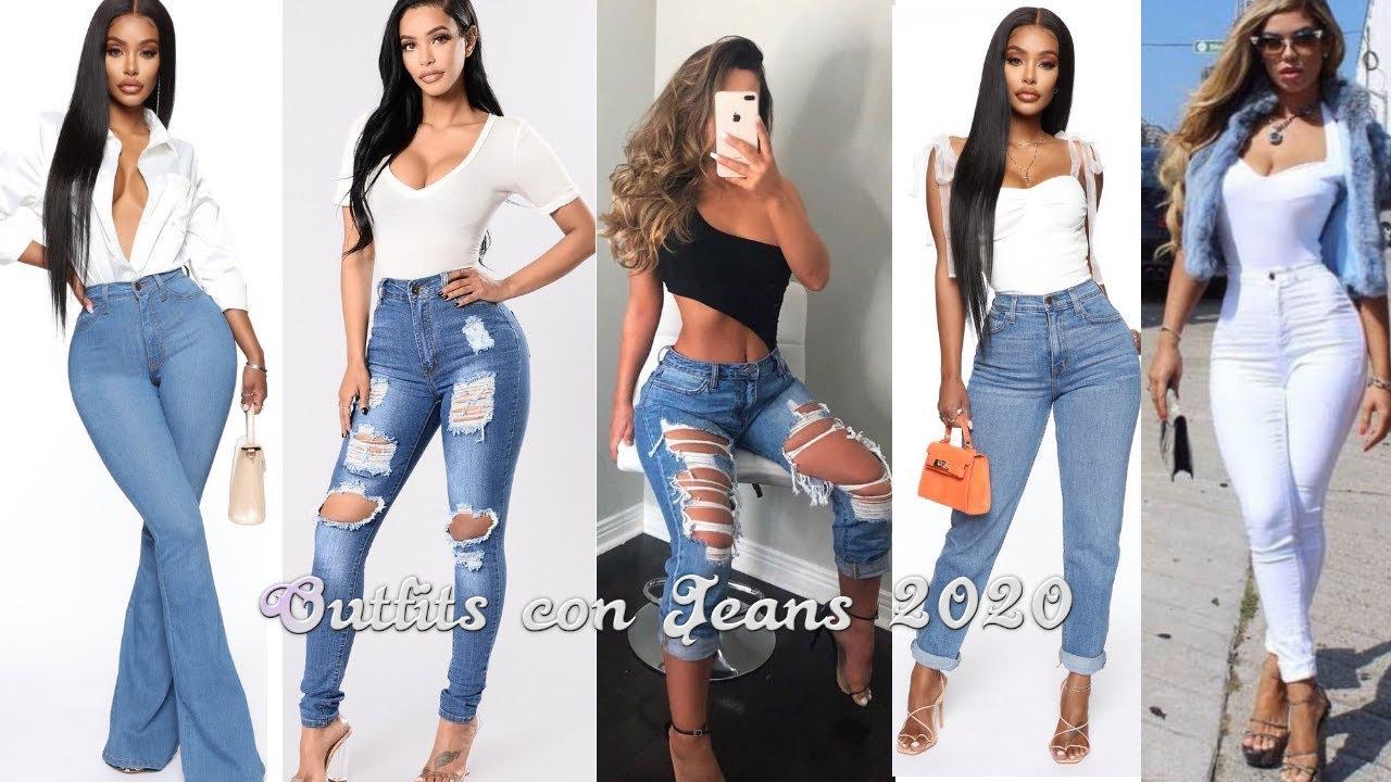 Moda 2020 Outfits Casuales Con Jeans De Moda 2020 Fashion Jeans Tendencias 2020 Youtube