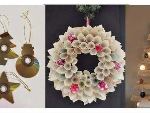 Decoracion De Navidad En Material Reciclable Youtube