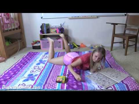 ABDL Diaper Girl Summer Coloring in Pink Diaper