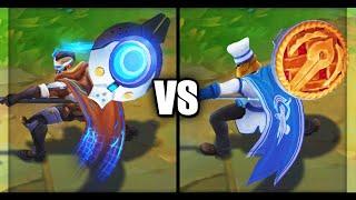 Pulsefire Pantheon vs Baker Pantheon Skins Comparison (League of Legends)