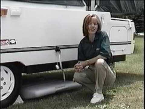 Coleman Fleetwood Popup Camper Setup - Part 1 - YouTube
