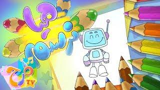 برنامج هيا نرسم - رسم آلي - الحلقة التاسعة | marah tv - قناة مرح