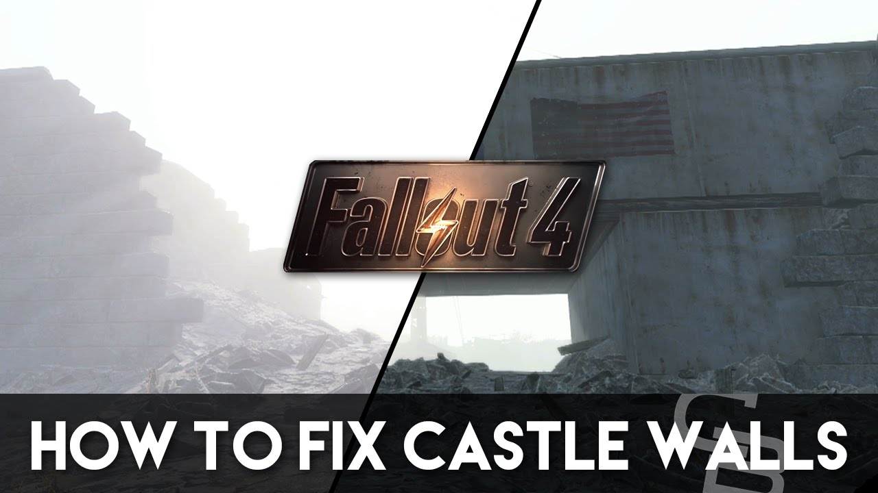 fallout 4 - how to fix the castle's walls! (fallout 4 base