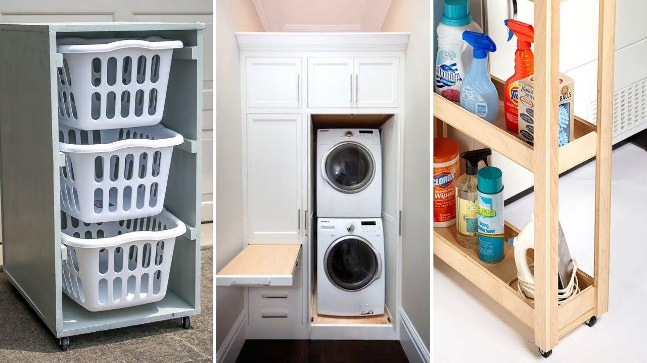 10 Small Laundry Room Organization Ideas - YouTube on Small Apartment Organization  id=62959