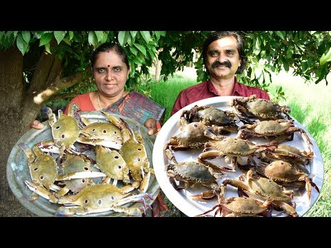 Sea Crab Curry Cooked By Daddy & Mom  | நண்டு குழம்பு | Crab Curry South Indian Style |