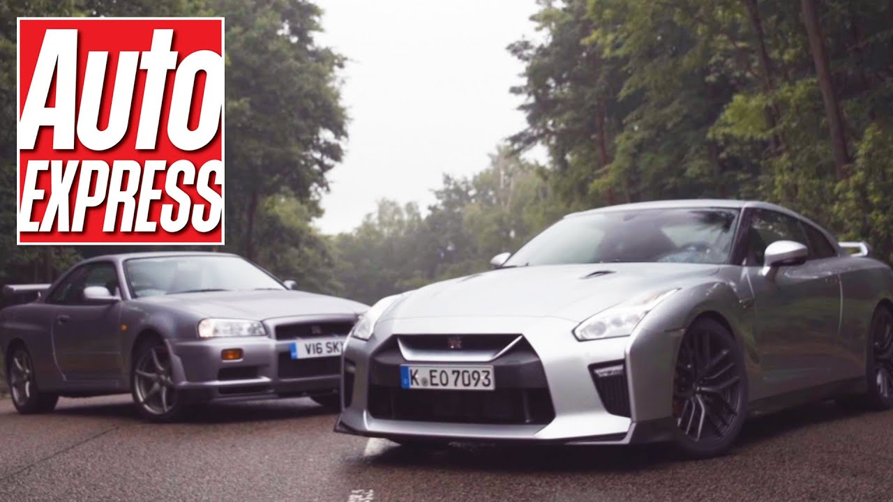 New Nissan Gt R R35 Vs R34 Skyline Gt R Hero Meets Legend Youtube