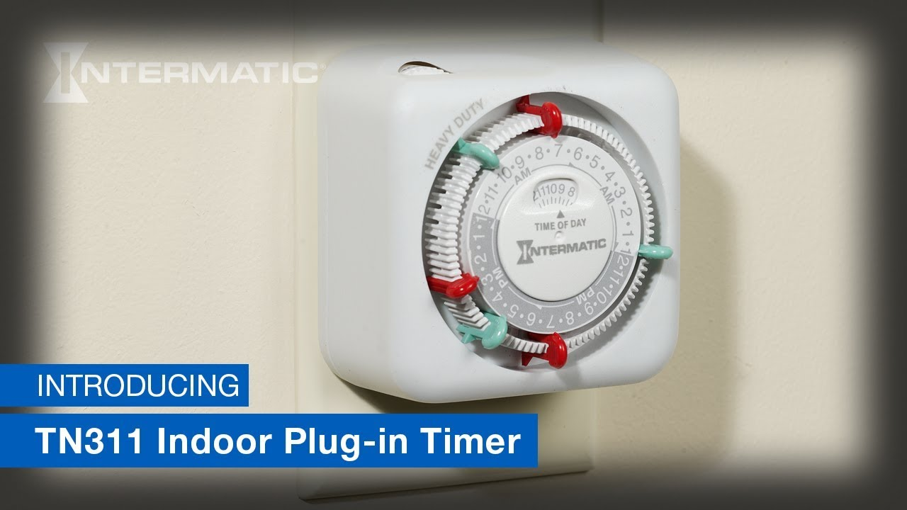 Intermatic Timer TN311 24-Hour Heavy-Duty Indoor Mechanical Plug-in Timer-White