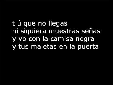 Juanes La Camisa Negra Lyrics Wmv