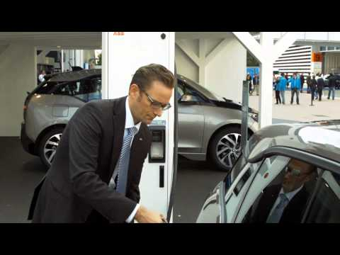 ABB fast charges the new BMW i3 at the International Motor Show in Frankfurt