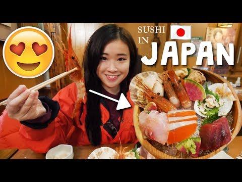 FRESH SUSHI PLATTER IN JAPAN | MUKBANG SAPPORO VLOG