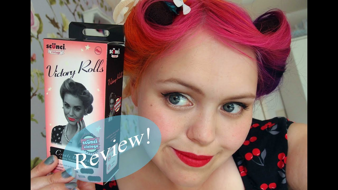 scünci vintage victory roll kit review & demonstration - youtube