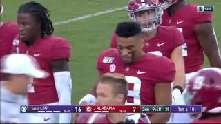Henry Ruggs III (#11 Alabama WR) VS LSU 2019 (All Snaps)