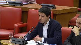 Segundo González en la Comisión de Presupuestos el 24 de enero