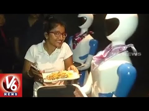 Chennai Restaurant Uses Robot To Serve Food | Special Story | V6 News