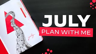 Bullet Journal PLAN WITH ME • July 2021 - Tentacles + Triangles