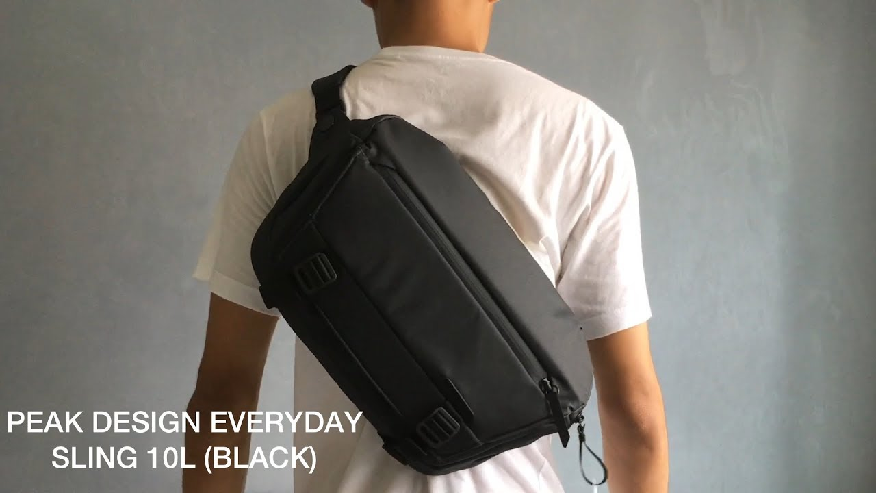 Peak Design Everyday Sling 10L (Black) Unboxing, Quick ...
