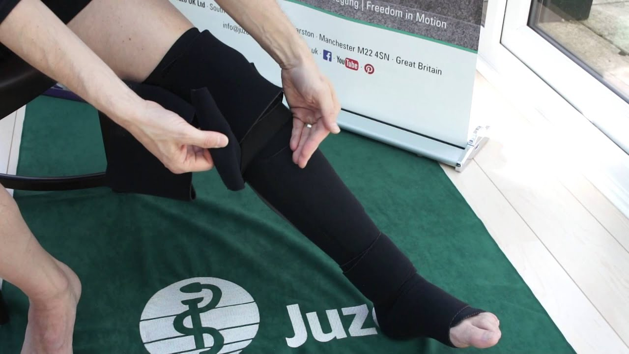 Juzo Adjustable Compression System Knee And Thigh Youtube