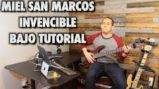 Miel San Marcos Invencible Bass/Bajo Cover Tutorial With Tabs (HD)