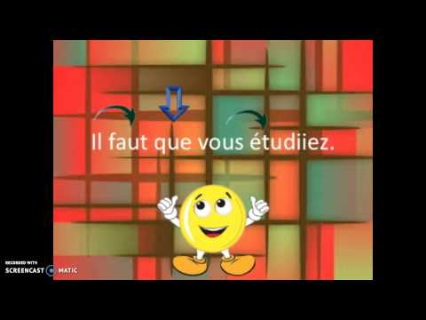 SONG French subjunctive sentence structure set to