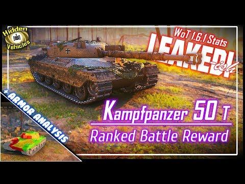 Kampfpanzer 50 T w/Armor Analysis – v1 6 1 Hidden Vehicles    World of Tanks