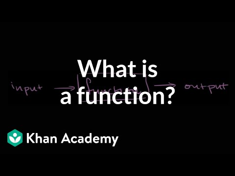 What Is A Function? | Functions And Their Graphs | Algebra II | Khan Academy