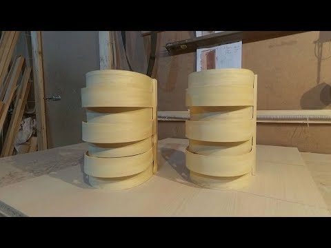 How to make a wooden lampshade on a lamp in a bath