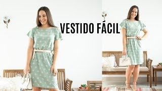 VESTIDO FÁCIL USANDO 1 METRO DE VISCOSE – COSTURA PARA INICIANTES