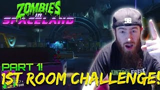 ZOMBIES IN SPACELAND FIRST ROOM CHALLENGE PART 1!! - Infinite Warfare Zombies Challenges