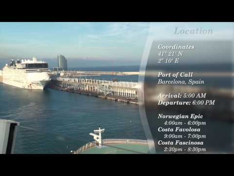 theCruiseView: Harmony of the Seas Day 1 - October 23rd, 2016 - Barcelona, Spain
