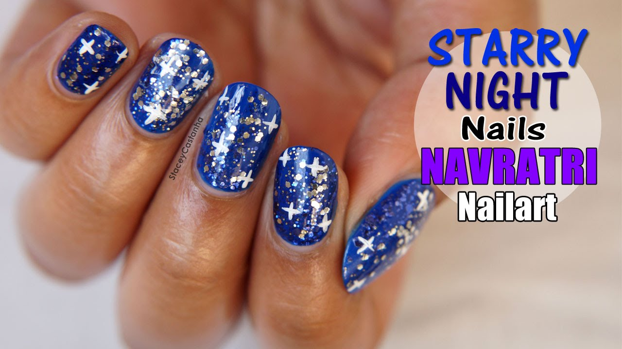 Night Out Nail Art Tutorial Starry Nails