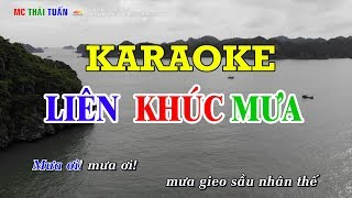 Liên khúc mưa - Karaoke nhạc sống | Karaoke Chất lượng cao - 4K Ultra HD