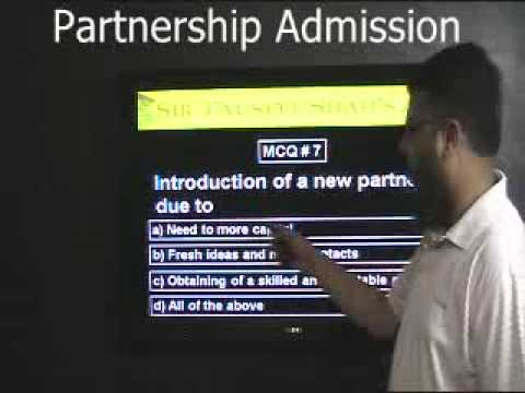 PARTNERSHIP ADMISSION MCQs