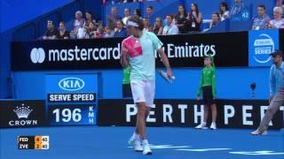 Roger Federer v Alexander Zverev highlights (RR) - Mastercard Hopman Cup