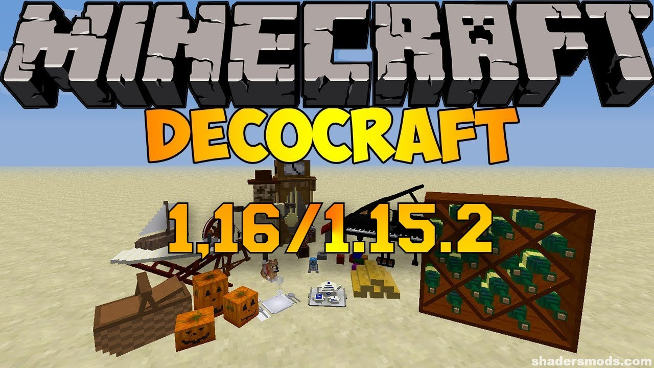 How To Install Decocraft Mod 1 16 2 1 16 1 Minecraft Mods Youtube