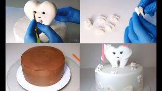 Торт Зуб /Торт Зубик / Tooth Cake / Zahn-Torte / Торт Стоматолог / Babytorte / First Tooth
