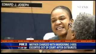 Mother of children found in freezer escorted after court outburst