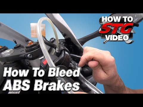 How To Bleed ABS Equipped Motorcycle Brakes from SportbikeTrackGear.com